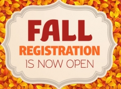 WE ARE NOW ENROLLING FOR FALL-Stop by Wednesdays 4pm-7pm