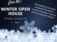 Adult Program- Winter Open House Sunday, January 7th 1-4pm